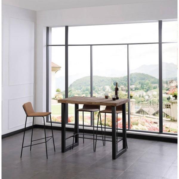 Mesa alta barra madera metal
