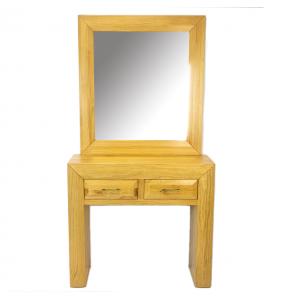Consola madera natural + Espejo