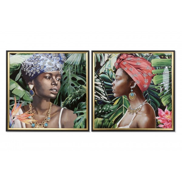 Set 2 Cuadros lienzo africana