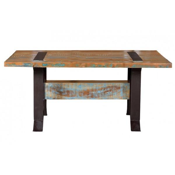 Mesa comedor pata metal colores